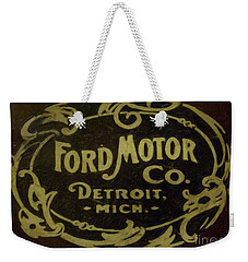Ford Motor Company Weekender Tote Bag by David Millenheft