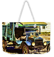 Weekender Tote Bag featuring the painting Ford by Muhie Kanawati