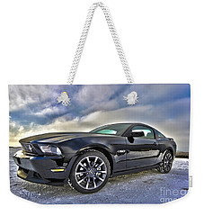 Weekender Tote Bag featuring the photograph ford mustang car HDR by Paul Fearn