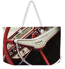 Weekender Tote Bag featuring the photograph Ford Sunliner by Bradley R Youngberg