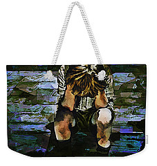 Forecast - Portrait Of A Sad Boy Weekender Tote Bag