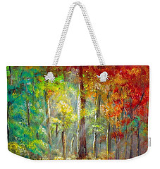 Weekender Tote Bag featuring the painting Forest by Bozena Zajaczkowska