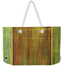 Weekender Tote Bag featuring the sculpture Forest Painted Door by Asha Carolyn Young