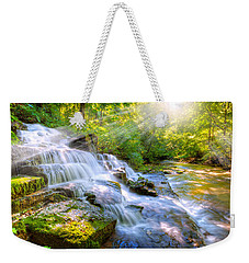 Forest Stream And Waterfall Weekender Tote Bag