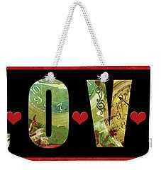 Forever Love Weekender Tote Bag by Claudia Ellis