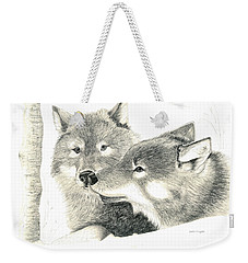 Forever Wolf Love-the Greeting Weekender Tote Bag