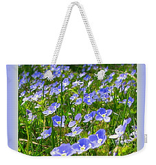 Forget Me Not Weekender Tote Bag by Leone Lund