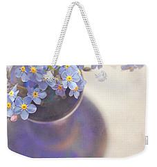 Forget Me Nots In Blue Vase Weekender Tote Bag