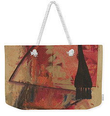 Weekender Tote Bag featuring the painting Forgive My Tears by Mini Arora