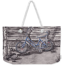 Weekender Tote Bag featuring the painting Forgotten Banana Seat Bike by Kelly Mills