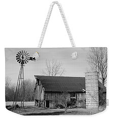 Forgotten Farm In Black And White Weekender Tote Bag by Judy Whitton