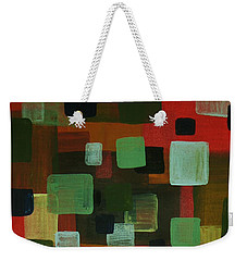 Weekender Tote Bag featuring the painting Forms by Barbara St Jean