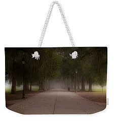 Weekender Tote Bag featuring the photograph Forsyth Park Pathway by Frank Bright