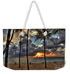 Weekender Tote Bag featuring the photograph Fort Lauderdale Beach Florida - Sunrise by Timothy Lowry