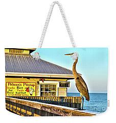 Fort Myers Beach Bird On Pier Weekender Tote Bag