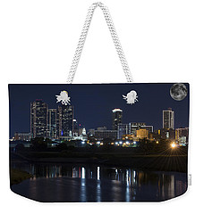 Fort Worth Skyline Super Moon Weekender Tote Bag