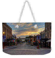 Fort Worth Stockyards Sunrise Weekender Tote Bag