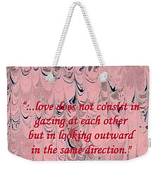 Forward Looking Love Weekender Tote Bag