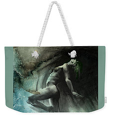 Weekender Tote Bag featuring the drawing Fount I - Textured by Paul Davenport