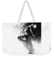 Weekender Tote Bag featuring the drawing Fount by Paul Davenport