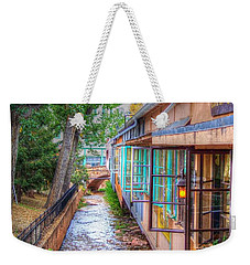 Fountain Creek Behind The Avenue Weekender Tote Bag by Lanita Williams