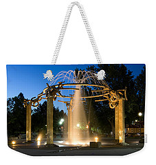 Fountain In Riverfront Park Weekender Tote Bag