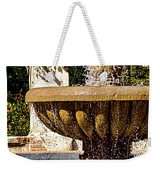 Fountain Of Beauty Weekender Tote Bag by Peggy Hughes