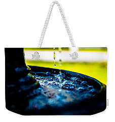 Weekender Tote Bag featuring the photograph Fountain Of Time by Mez