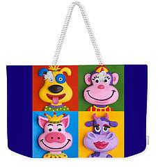 Four Animal Faces Weekender Tote Bag