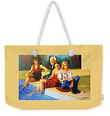 Four At A  Pool Weekender Tote Bag