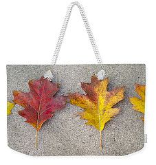 Four Autumn Leaves Weekender Tote Bag