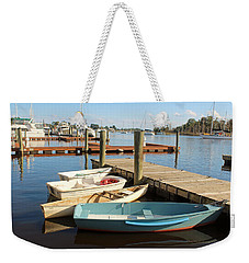 Weekender Tote Bag featuring the photograph Four Boats  by Cynthia Guinn