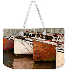 Four Boats In Bronze Weekender Tote Bag