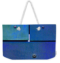 Four Five Six - Colorful Rust - Blue Weekender Tote Bag