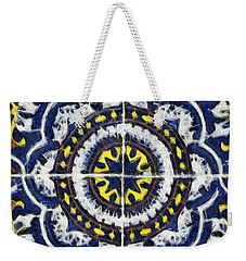 Four Painted Tiles-mexico Weekender Tote Bag by Michael Flood