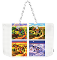 Four Seasons On The Farm Squared Weekender Tote Bag