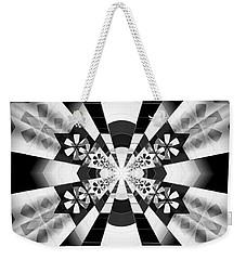 Weekender Tote Bag featuring the drawing Four Star Gateway by Derek Gedney