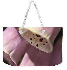 Weekender Tote Bag featuring the photograph Foxglove by Joy Watson