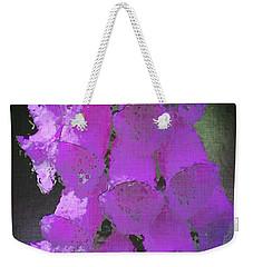 Foxgloves Weekender Tote Bag by Richard Farrington