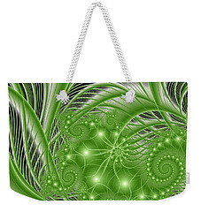 Fractal Abstract Green Nature Weekender Tote Bag by Gabiw Art