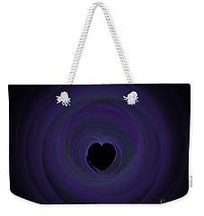Weekender Tote Bag featuring the digital art Fractal Blue by Henrik Lehnerer
