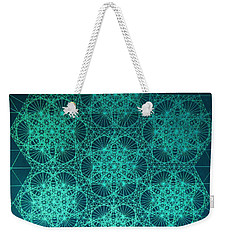 Weekender Tote Bag featuring the drawing Fractal Interference by Jason Padgett