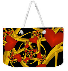 Fractal Love Ist Gold Weekender Tote Bag by Gabiw Art