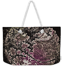 Weekender Tote Bag featuring the digital art Fractal Moon by Susan Maxwell Schmidt