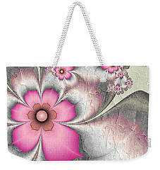 Fractal Nostalgic Flowers 2 Weekender Tote Bag by Gabiw Art