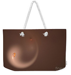 Weekender Tote Bag featuring the digital art Fractal Orange Flair by Henrik Lehnerer