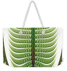 Weekender Tote Bag featuring the digital art Fractal Pine by Anastasiya Malakhova