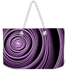 Fractal Purple Swirl Weekender Tote Bag by Gabiw Art