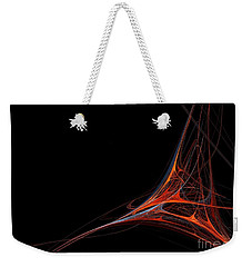 Weekender Tote Bag featuring the photograph Fractal Red by Henrik Lehnerer