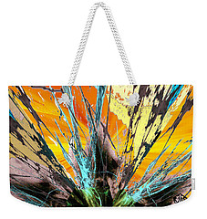 Fractured Sunset Weekender Tote Bag